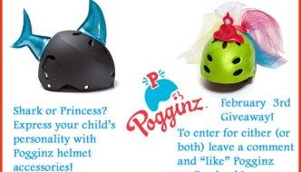 Pogginz Helmet Accessories for Kids (Shark & Princess Giveaway)