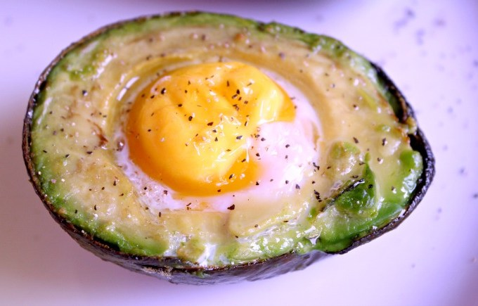 avocado in an egg