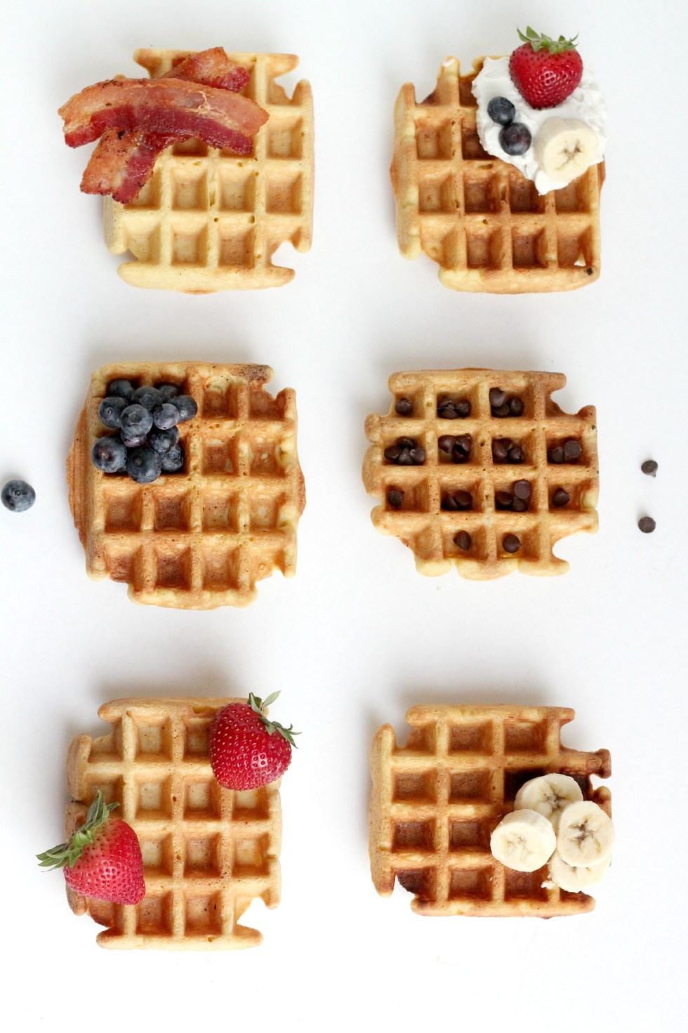This is the best Grain and Gluten Free Waffle Recipe! Top with your favorite toppings.
