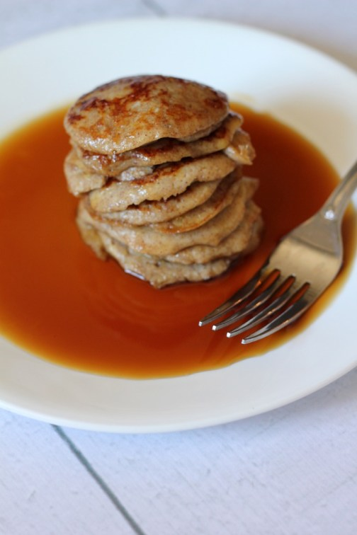 This Easy Banana Pancake Recipe only requires 3 ingredients and it's Paleo-friendly.