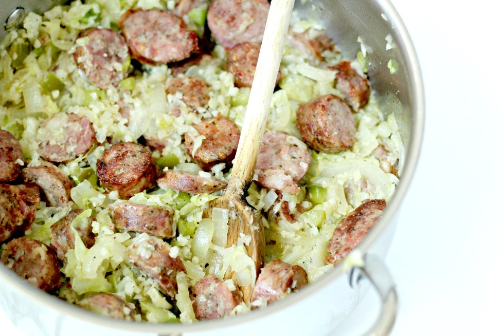 This Sausage and Cabbage Recipe can be made in under 30 minutes and uses only one pot! How convenient.