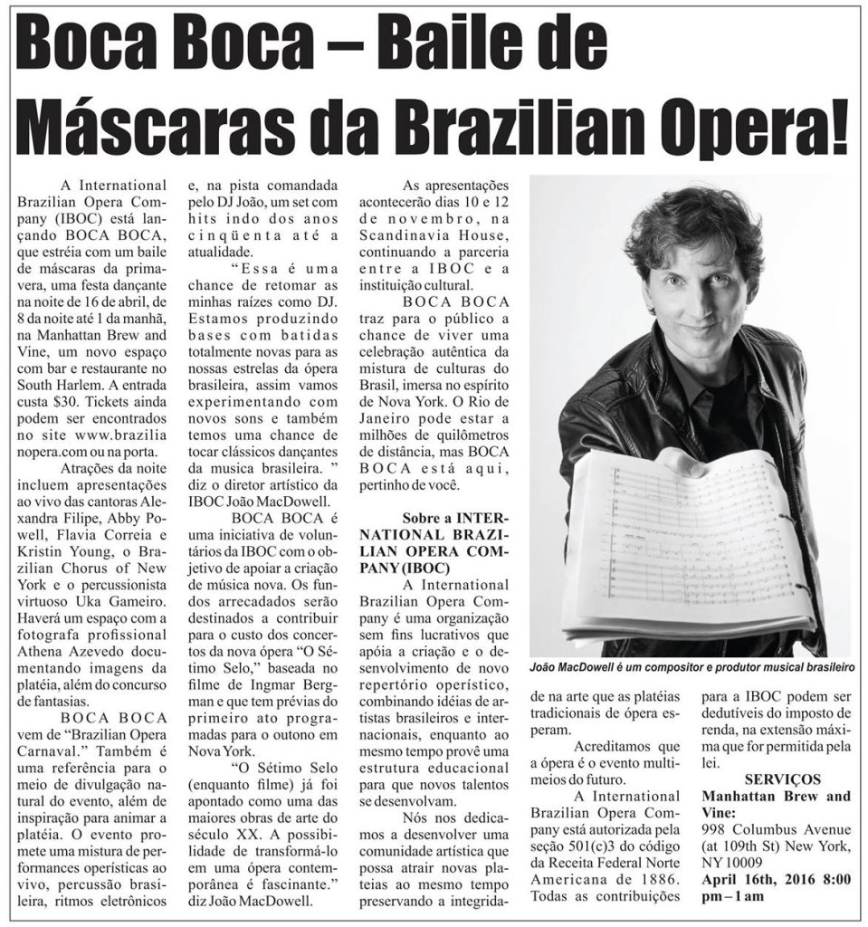 Brazilian Times April 2016