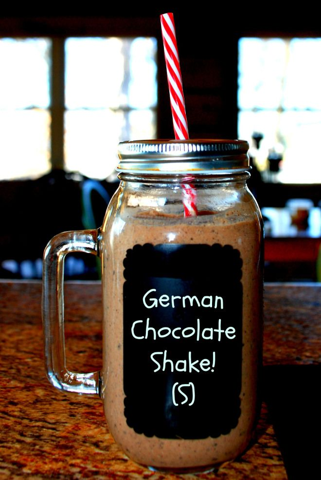 German Chocolate Shake