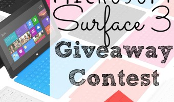 MICROSOFT SURFACE 3 GIVEAWAY CONTEST