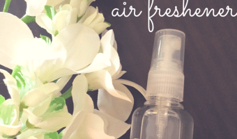 It's no secret that moms of boys need some serious air freshens to help. Find out how to make your own!