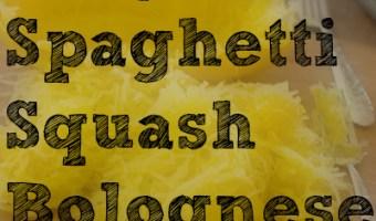 Easy Paleo Spaghetti Squash Bolognese