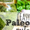 Super easy paleo pesto using fresh ingredients.