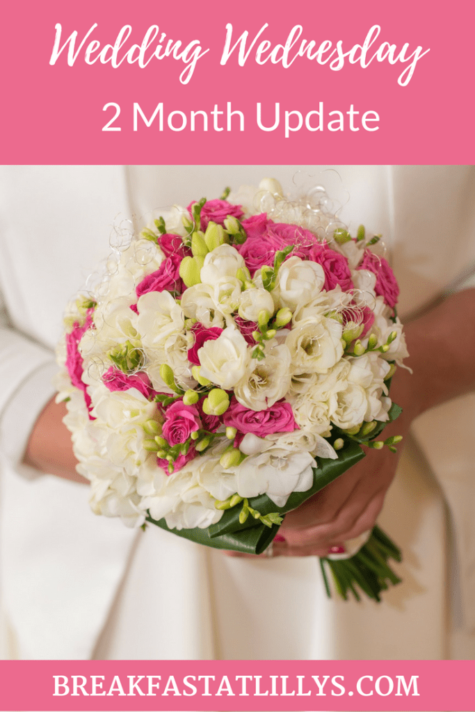 Today on Breakfast at Lilly's I'm sharing my most recent wedding Wednesday update.