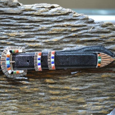 Lazuli Corn Inlay Buckle Set