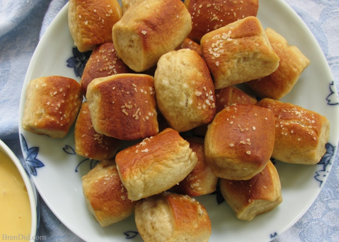 Recipe for Homemade Soft Pretzel Bites - Bren Did