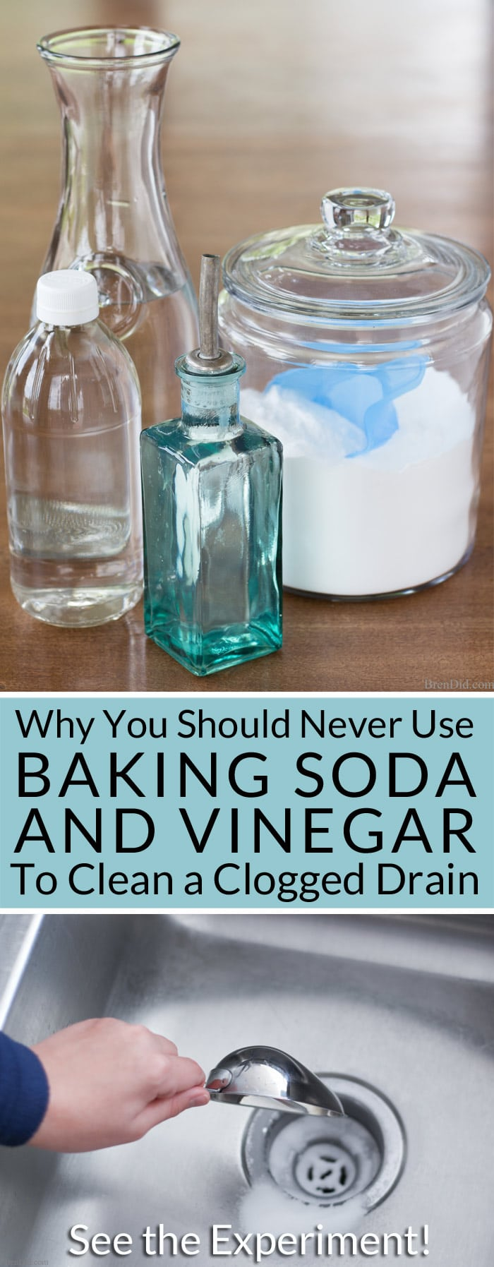 why you should never use baking soda and vinegar to clean clogged drains kitchen sink draining slowly Want to naturally unclog a sink or clean a slow moving drain Learn why you