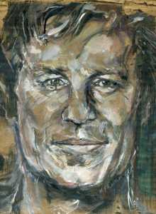 Portrait of Foreign Correspondent Richard Engel by Artist Katherine Trunk for The Brenner Brief