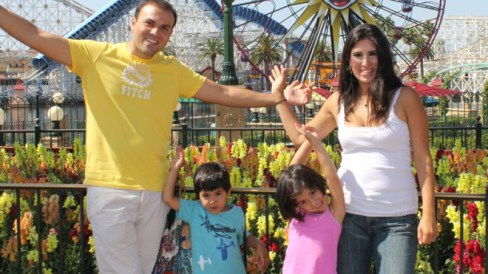 Saeed Abedini with his family