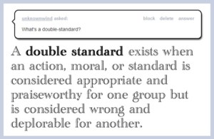 double standard definition