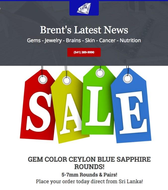 Ceylon Blue Sapphire Sale!