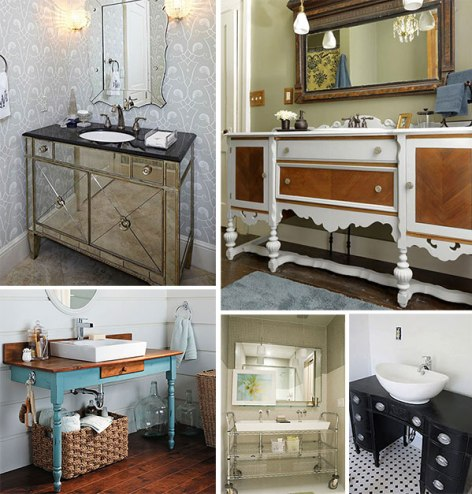 Guest post repurposing goods for bathroom decor for Bathroom decor home goods