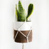 Clay & Leather Macrame Hanging Planter :: Monthly DIY Challenge