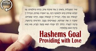 Hashems Goal | Providing with Love