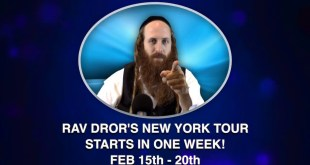 Rav Dror's New York Tour – All Locations and Times! (Feb 15th – 20th)