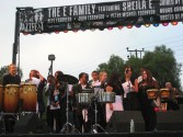 Performing with Sheila E and family at Jazz Fest