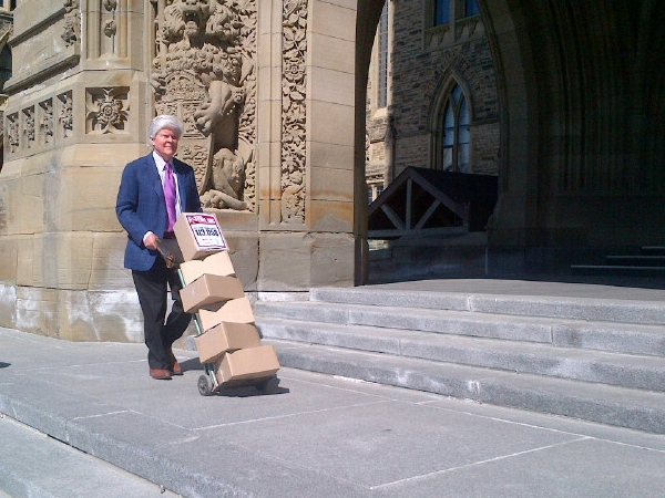 The Canadian Superhero makes it to Parliament Hill