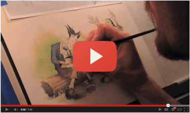 Watercolor Video Process