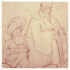 A wry little Sage, and a jealous Vizier.