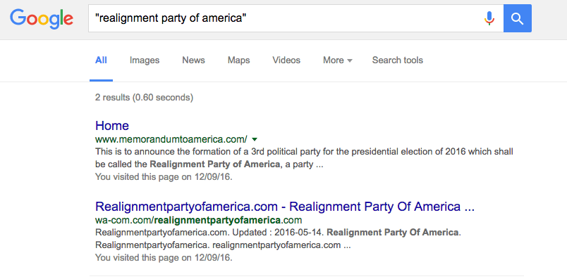 Realignment Party of America