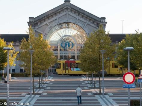 SNCB station at Charleroi Sud. Lumix LX7 photo.