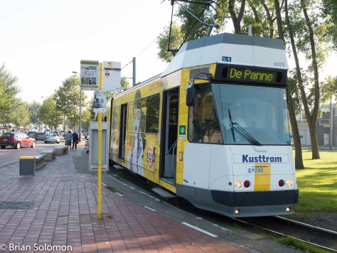 LIJN Kusttram the Knokke terminus at the north-end of the route. Lumix LX7 photo.