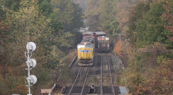 Union Pacific at East Deerfield West—three photos.