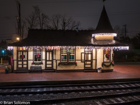 New Hope & Ivyland's former Reading Company station at New Hope, Pennsylvania. Exposed with a Lumix LX7 digital camera.