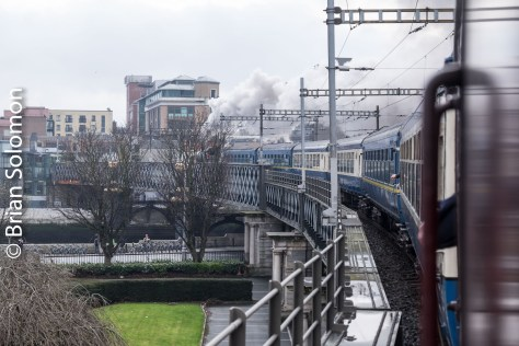 View from the Loop Line bridge in Dublin.