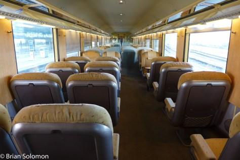 Old school comfort. Proper 1st class railway travel. Lumix LX7 photo.