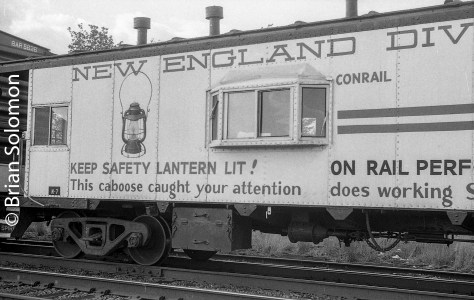 Conrail's one of a kind New England Division Caboose spent a couple years on the Boston & Albany in the mid-1980s. Sometime after Division Supt E.C. Cross retired it was sent west to New York State where it became the Buffalo Division Caboose. I have more photos of it out there. Most of them sharper than these.