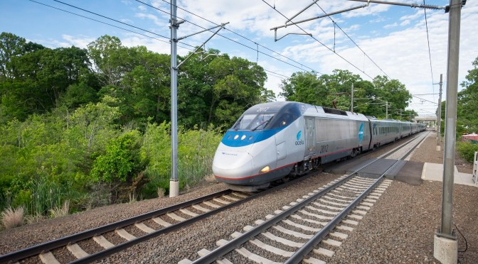 Amtrak Acela at Speed; when one thousandth of a second isn't fast enough.