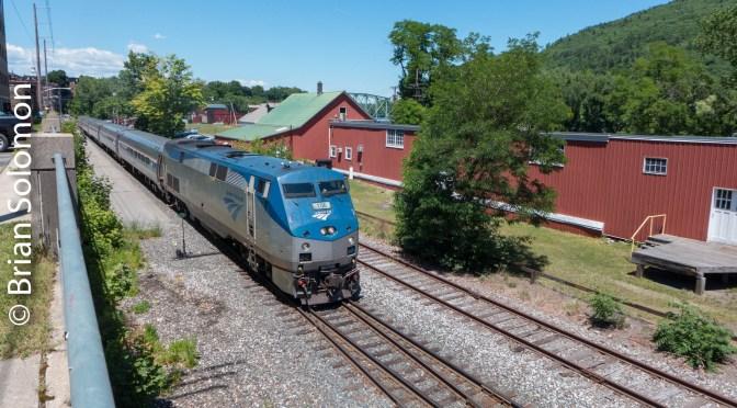 Amtrak's Vermonter at Brattleboro.