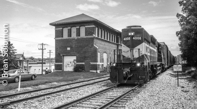 Long Hood at the Old Station; Baraboo, Wisconsin in Black & White—July 2016.