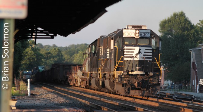 Norfolk Southern helpers at Latrobe, Pennsylvania on August 11, 2011.
