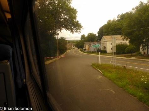 Looking east on Route 20 at Huntington, Massachusetts.