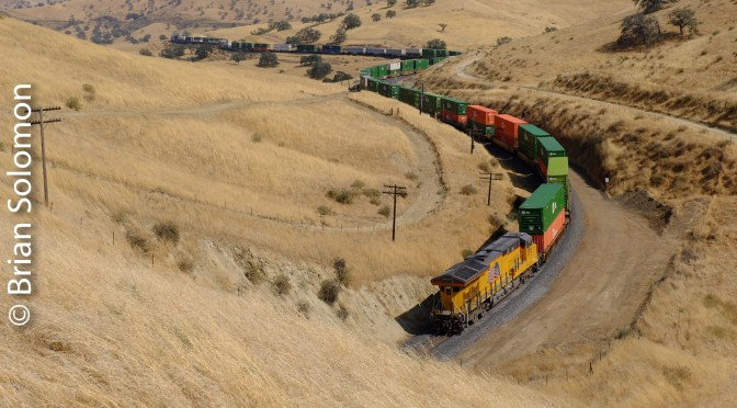 Union Pacific Z-Train; Sinuosity at Tunnel 2 in Four Photos.