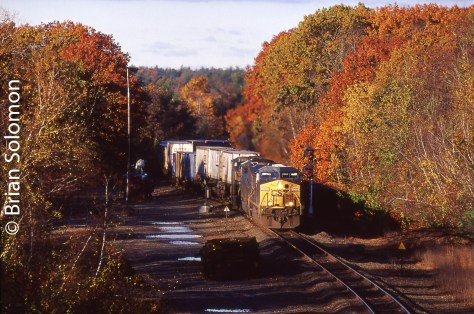 CSX Q168 at Charlton Depot, Massachusetts, October 25, 2009.