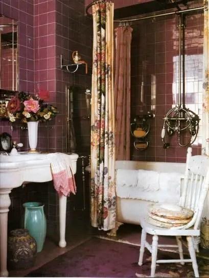 Salle de bain violet 1 Choisir la couleur de la salle de bain   21 Idées de couleurs
