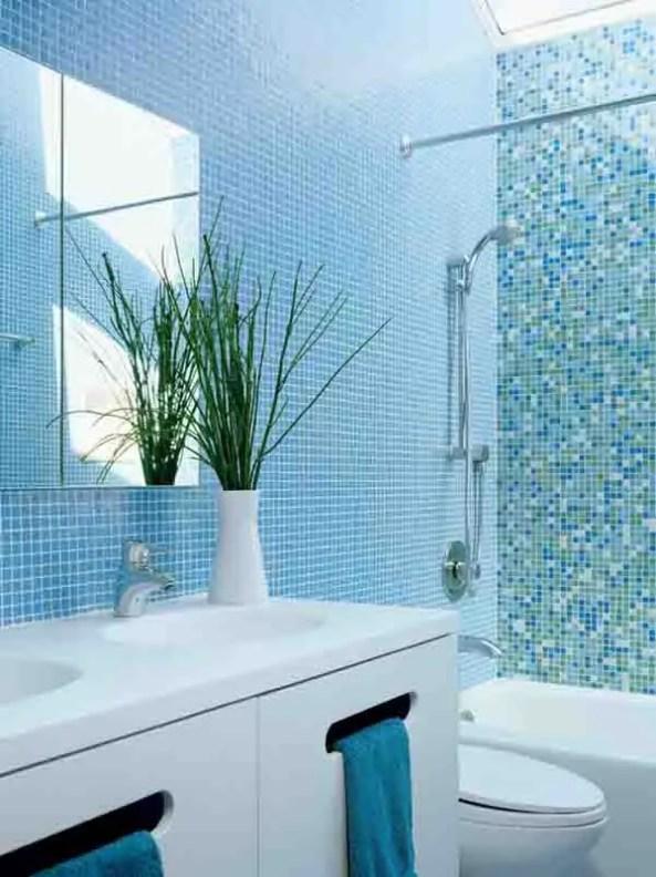salle de bain bleu Choisir la couleur de la salle de bain   21 Idées de couleurs