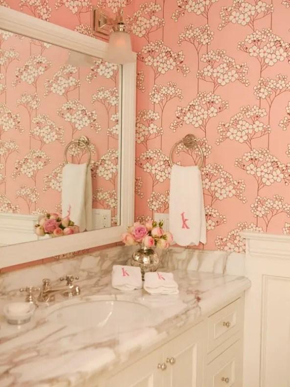 salle de bain pale rose Choisir la couleur de la salle de bain   21 Idées de couleurs