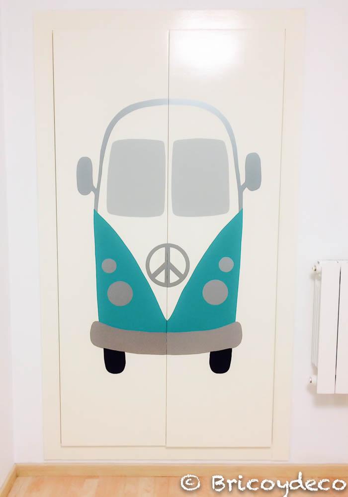 decorar las puertas de un armario con un vinilo decorativo DIY