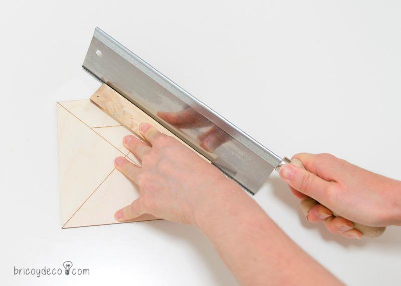 cortar las piezas del Tangram