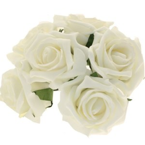Foam Artificial Flowers Ivory Rose