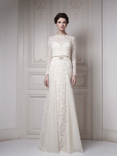30 Gorgeous Lace Sleeve Wedding Dresses