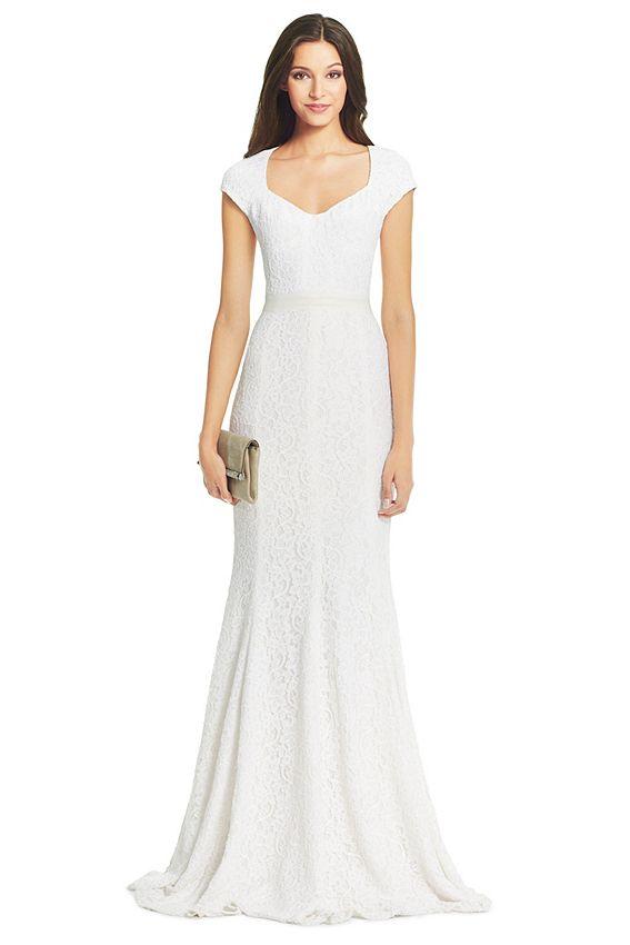 Informal Simple wedding dress